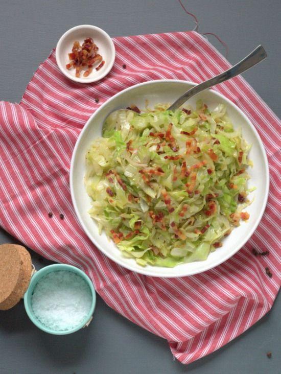 Fried Cabbage with Pancetta | thecookspyjamas.com