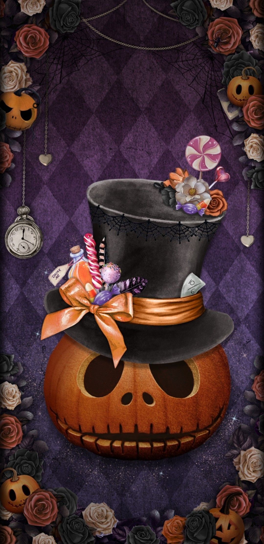 Wallpaper lockscreen Iphone android Halloween wallpaper