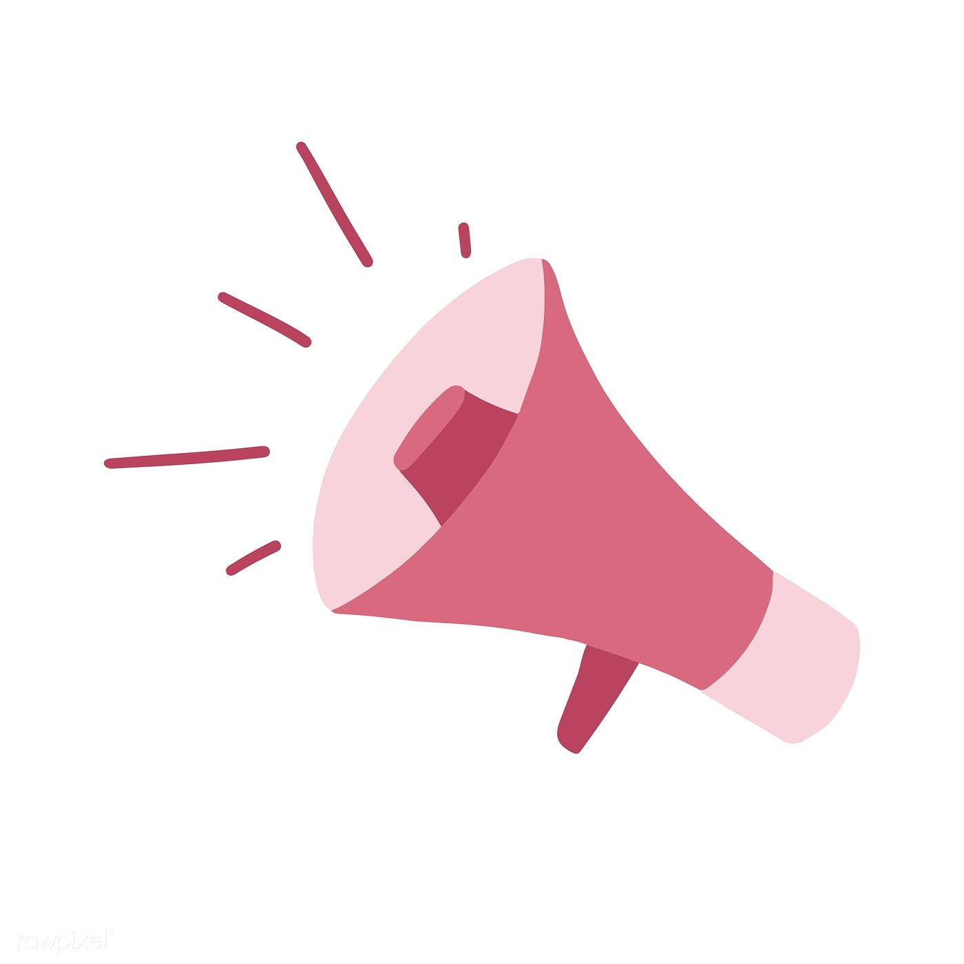 Pink Girly Megaphone Isolated On White Vector Free Image By Rawpixel Com Vector Free Logo Online Shop Pink Images