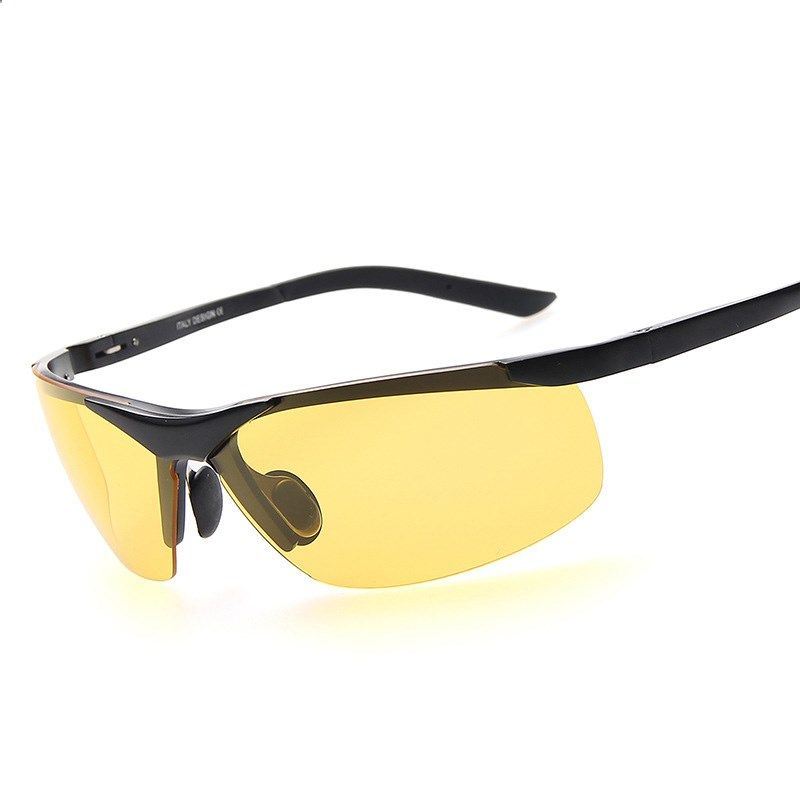 fe8422329f4 2016 Authentic Mens Driving Aluminum-magnesium Polarized Night Vision  Goggles Outdoor Anti-glare Lens Fishing Sunglasses