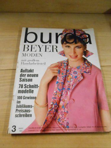 Alte Zeitschrift, Burda Moden, Nähen, Schnittmuster, 1964, Bayer ...