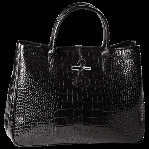 Sac Longchamp, Roseau Croco Noir | Longchamp handbags, French ...