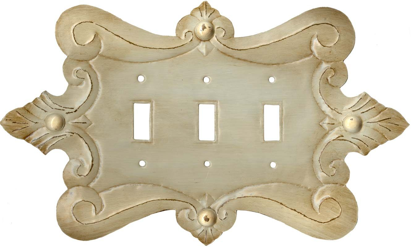 Triple Switch Plate Cover Italia White Switch Plates Outlet Covers & Rocker Switchplates