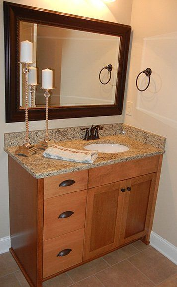 Bathroom Vanities Maple Maple Vanity With Dark Mahogany Stain