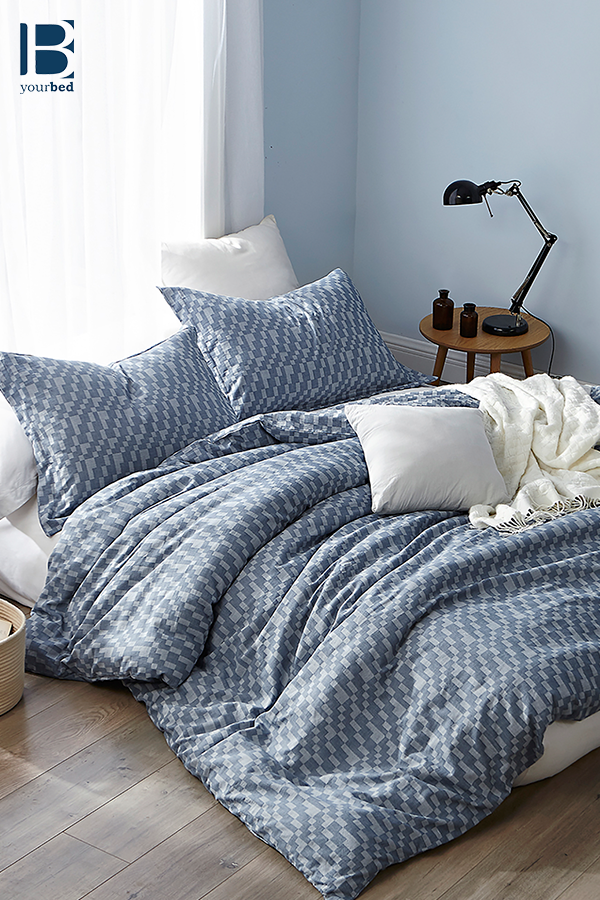Cozy And Stylish Queen Or King Oversize Bedding 100 Yarn Dyed Cotton Navy Slate True Oversized Queen Or King Duvet Cover King Duvet Cover Duvet Covers King Duvet