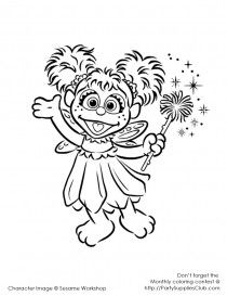 Coloring Pages Like This Of Abby Cadabby Sesame Street Birthday