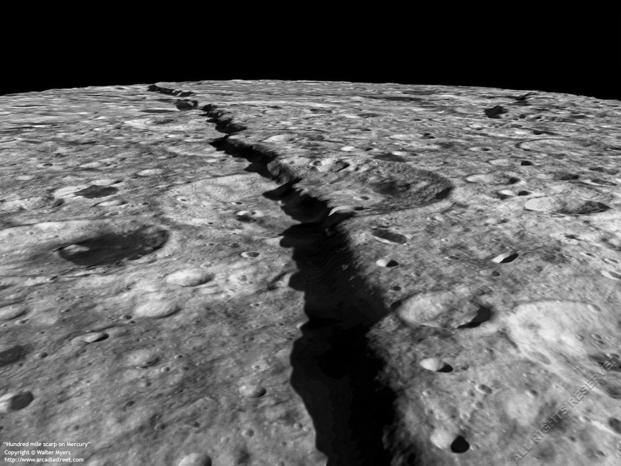 Superficie Rocosa Del Planeta Mercurio Planets And Moons Earth