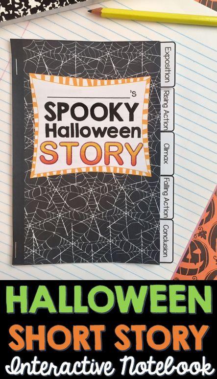Halloween Writing Short Story INTERACTIVE NOTEBOOK Flip Book - halloween writing ideas