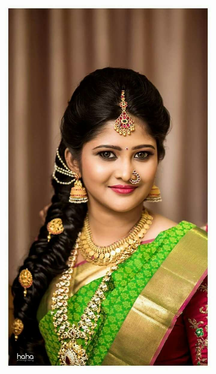 Pin By Anitha S On Brides South Indian Hairstyle Indian Bridal Hairstyles Indian Wedding Hairstyles