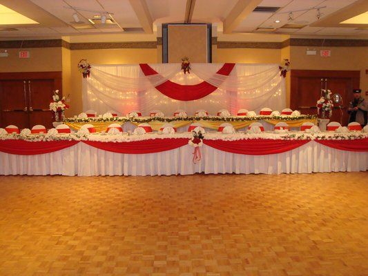 Banquet hall decoration wedding reception decoration head table