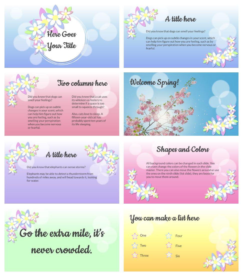 Flower Template Free Powerpoint Template Or Google Slides Theme Plantillas Power Point Gratis Power Point Gratis Fondos De Pantalla