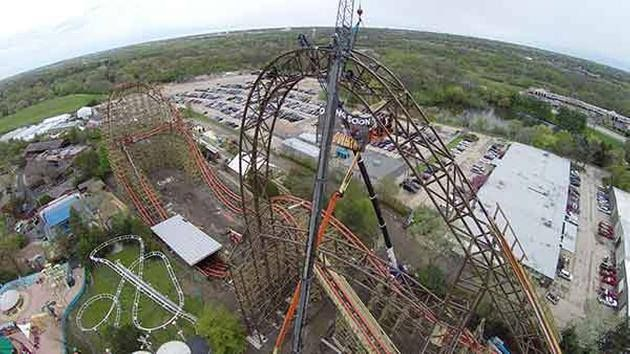 Six Flags Goliath Roller Coaster