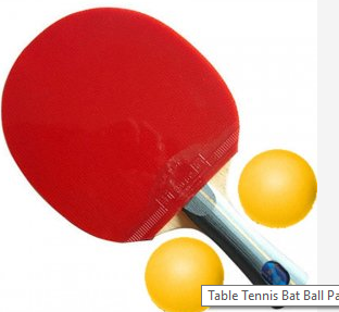 Table Tennis Bat Ball Packageone Bat Two Balls Packagered Colour Batyellow Colour Ballsnormal Qualitynice Gripping Posi Table Tennis Bats Table Tennis Tennis