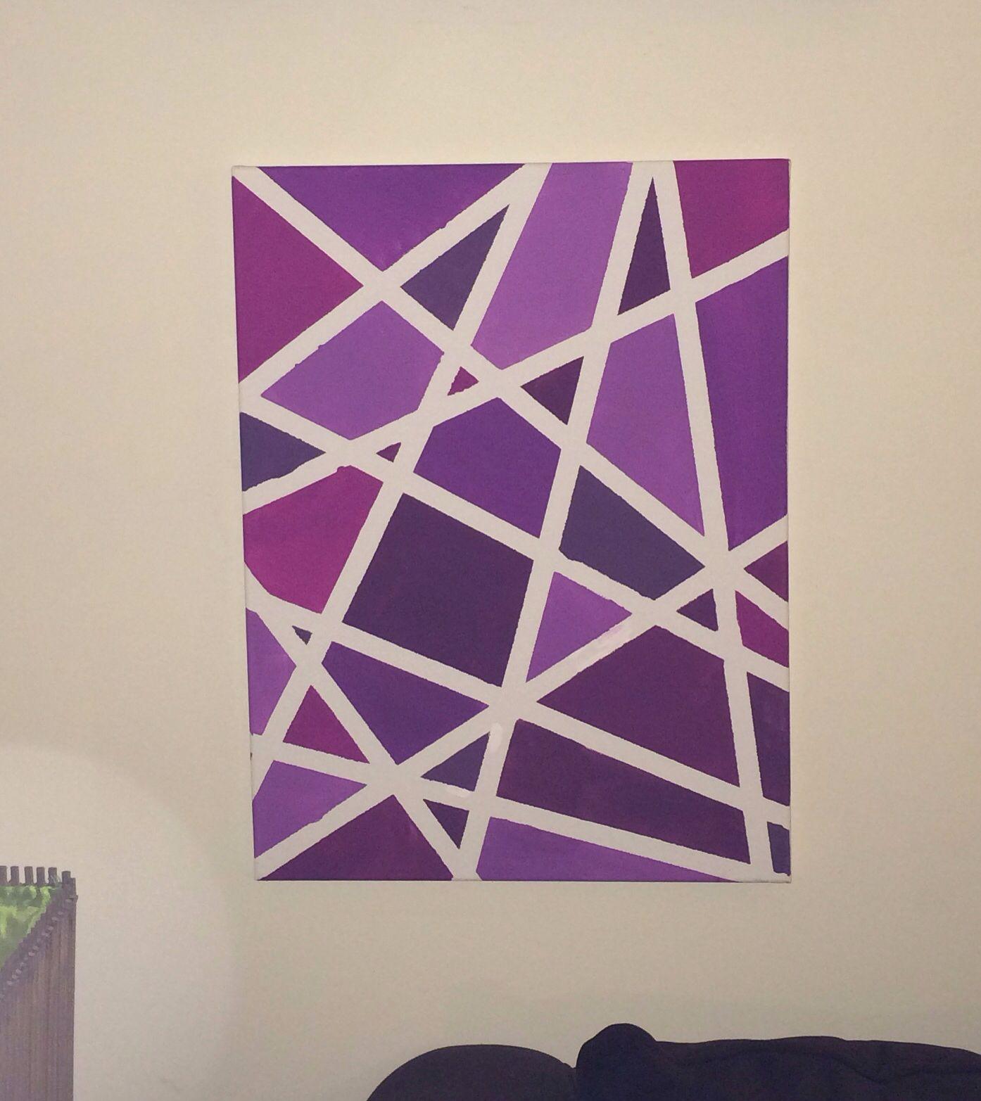 Tape Painting Tape Painting Diy Canvas Art Tape Art
