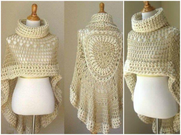 angel cloak coll   mis tejidos   Pinterest   Ponchos y Tejido