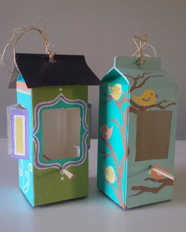Milk & Juice Cartons Into Bird Feeders • Recyclart