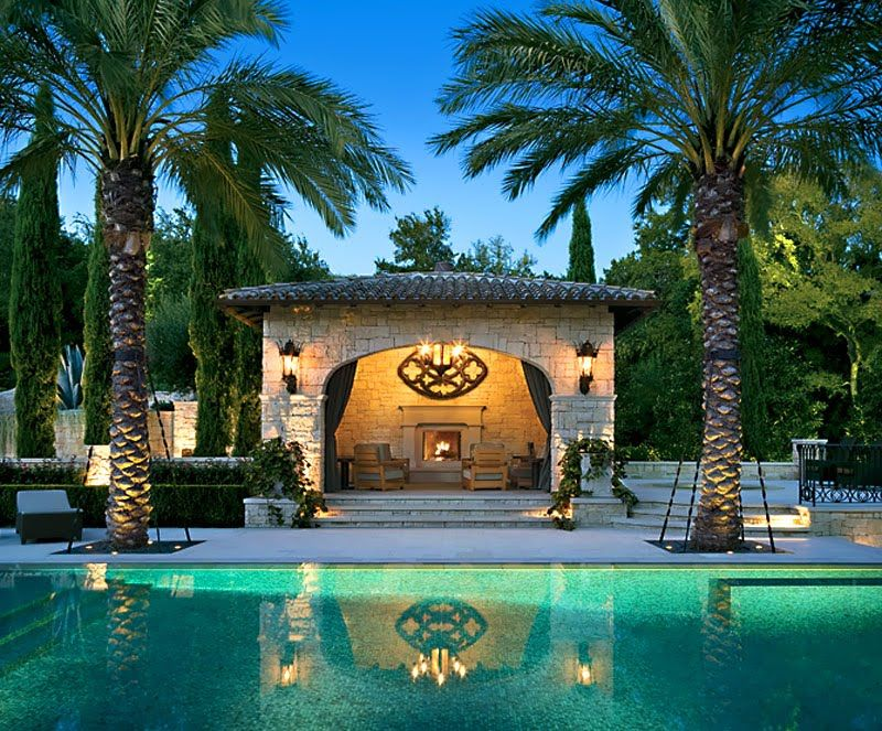 With Its Cozy Fireplace, Stone Cabana And Gothic Style Lanterns, The Pool  Area Has A Charming And Resort Feel That Is Stylish And Relaxed