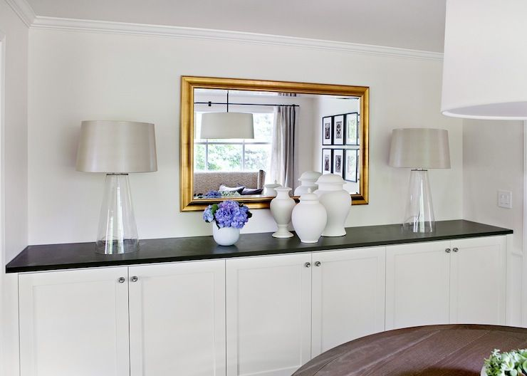 Built In Buffet Cabinets, Cottage, Dining Room, Marianne Simon Design