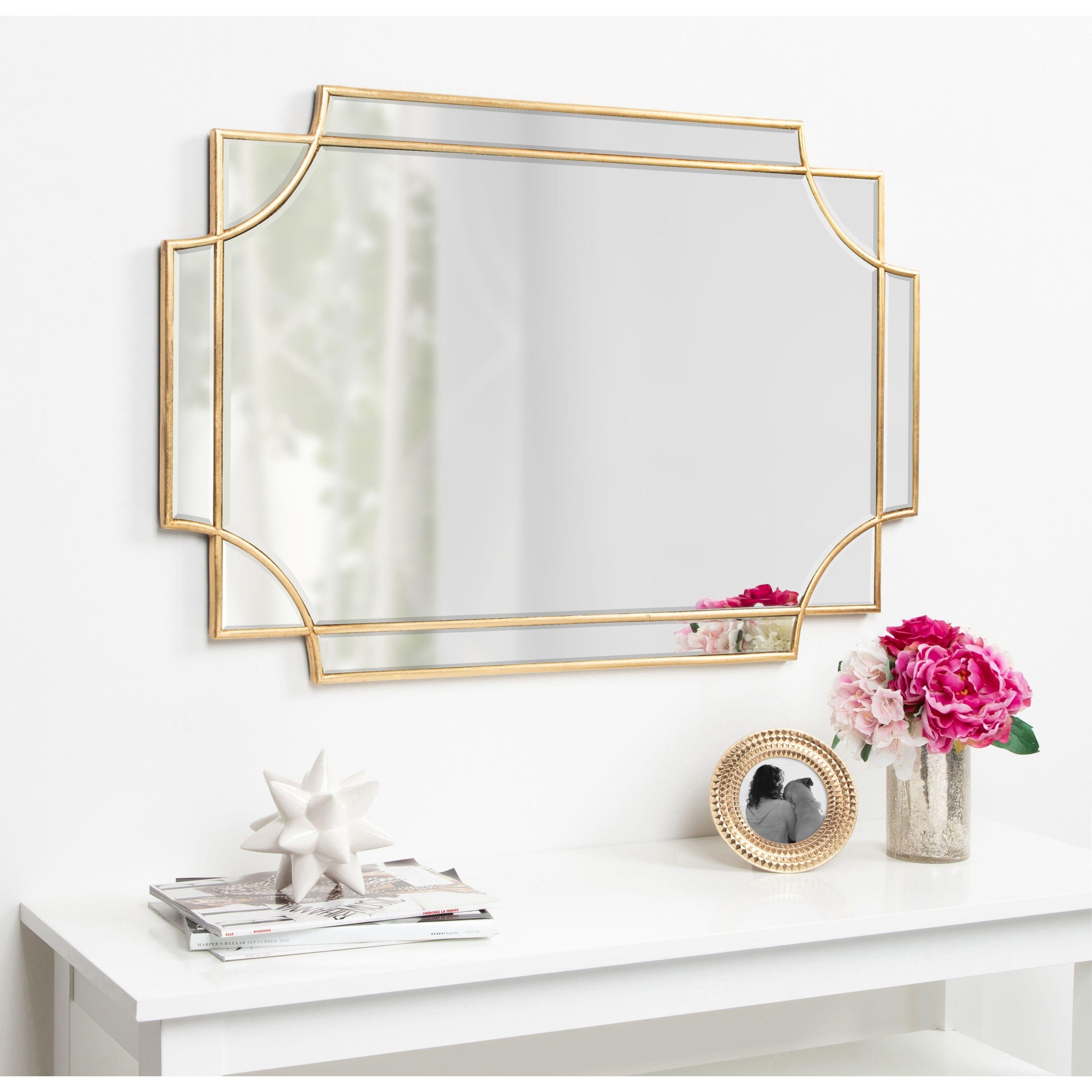 24 X20 Decorative Rectangular Wall Mirror Brass Project 62 In