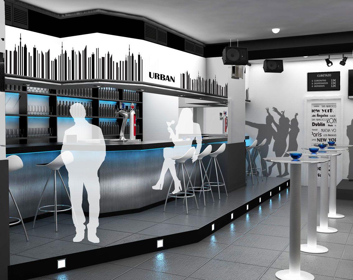 Proyecto de interiorismo bar de copas 120 m2 madrid - Decoracion de bares de copas ...