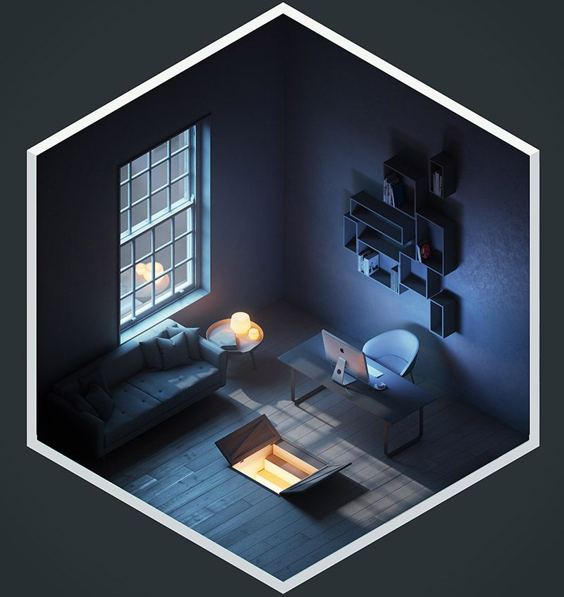 create appealing 3d illustrations by the stompin