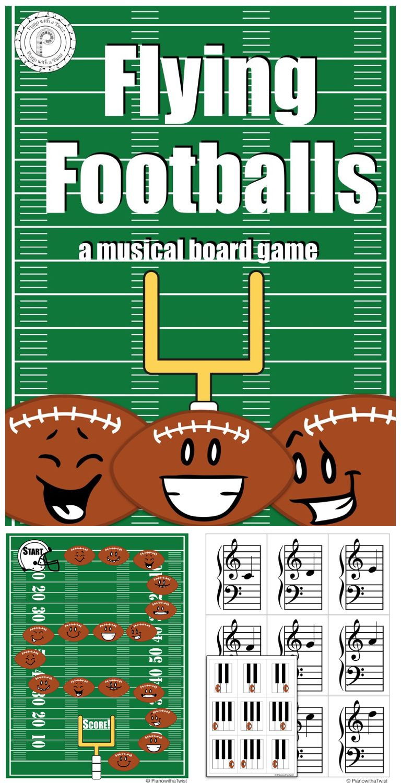Football Music Game Grand Staff and Piano Keyboard