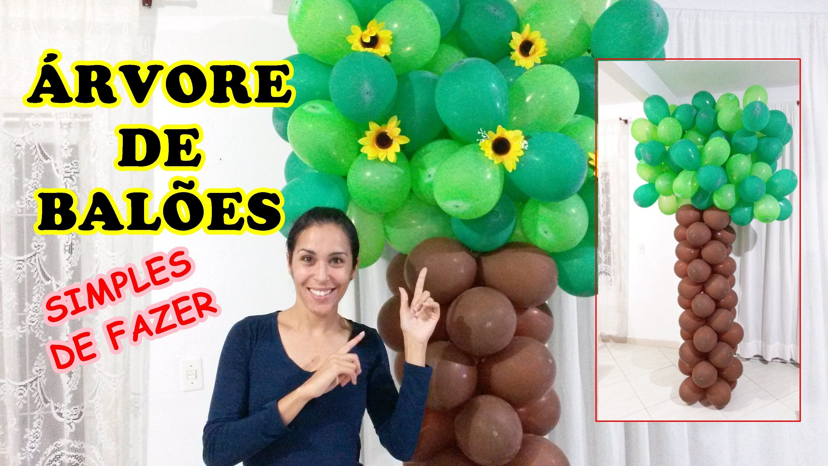 Como Fazer Uma Arvore De Baloes Arvore De Bexigas Com Imagens