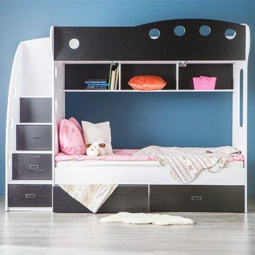 Viggo Bunkbed Black Bunk Beds Black Bunk Beds Bunk Beds With Storage