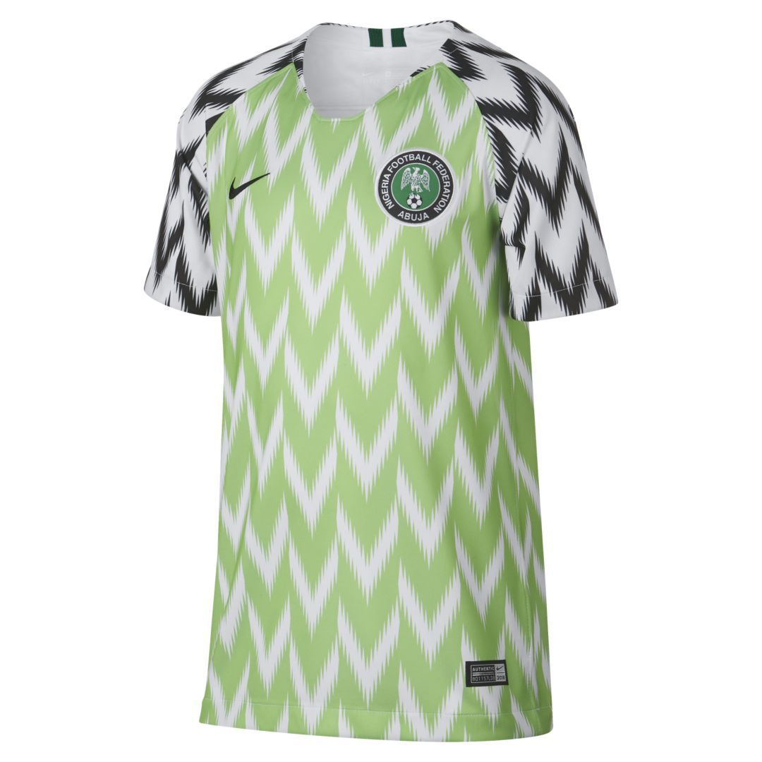 Nigeria 2019 Stadium Home Kids' Soccer Jersey in 2019 | Kids
