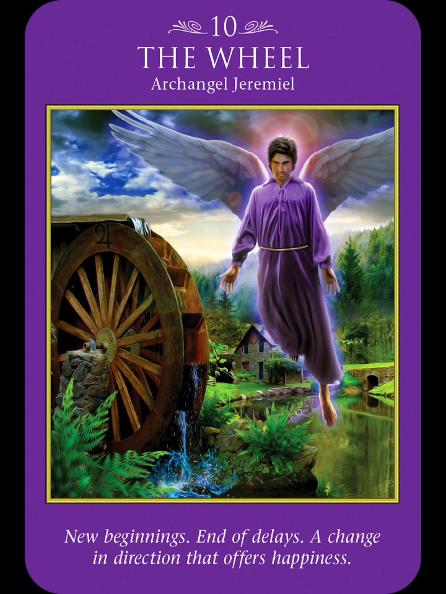 Archangel Jeremiel New Beginnings Tarot De Angeles Tarot