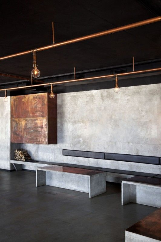 track lighting industrial look. Nazdrowje, An Industrial Style Polish Restaurant In Stockholm | Ems Designblogg · Pipe LightingCopper LightingIndustrial Track Lighting Look L