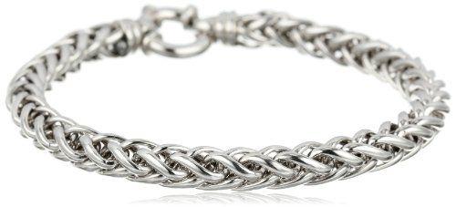 TOPSELLER! Italian Sterling Silver Spiga Bracele... $83.15 #AmazonCuratedCollection