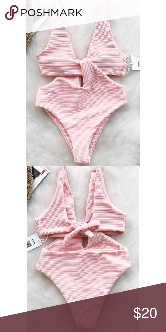 fa2a1df24ae90 Cupshe Shine For U Solid One-piece Swimsuit New with tags! Tie at back  Removable padding bra Regular wash Special fabric It's AMAZING, thick  fabric and ...