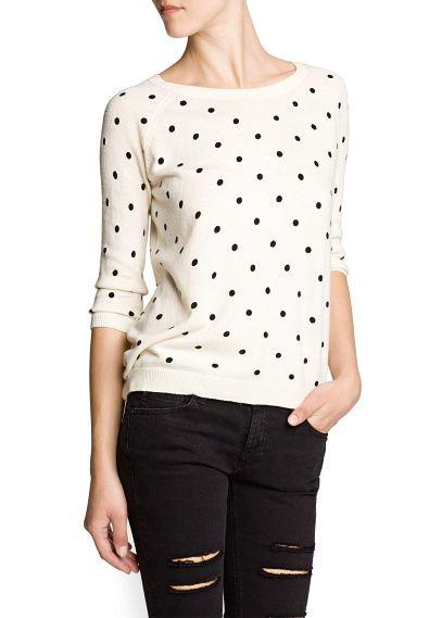 Perfect Polka-dot angora sweater!