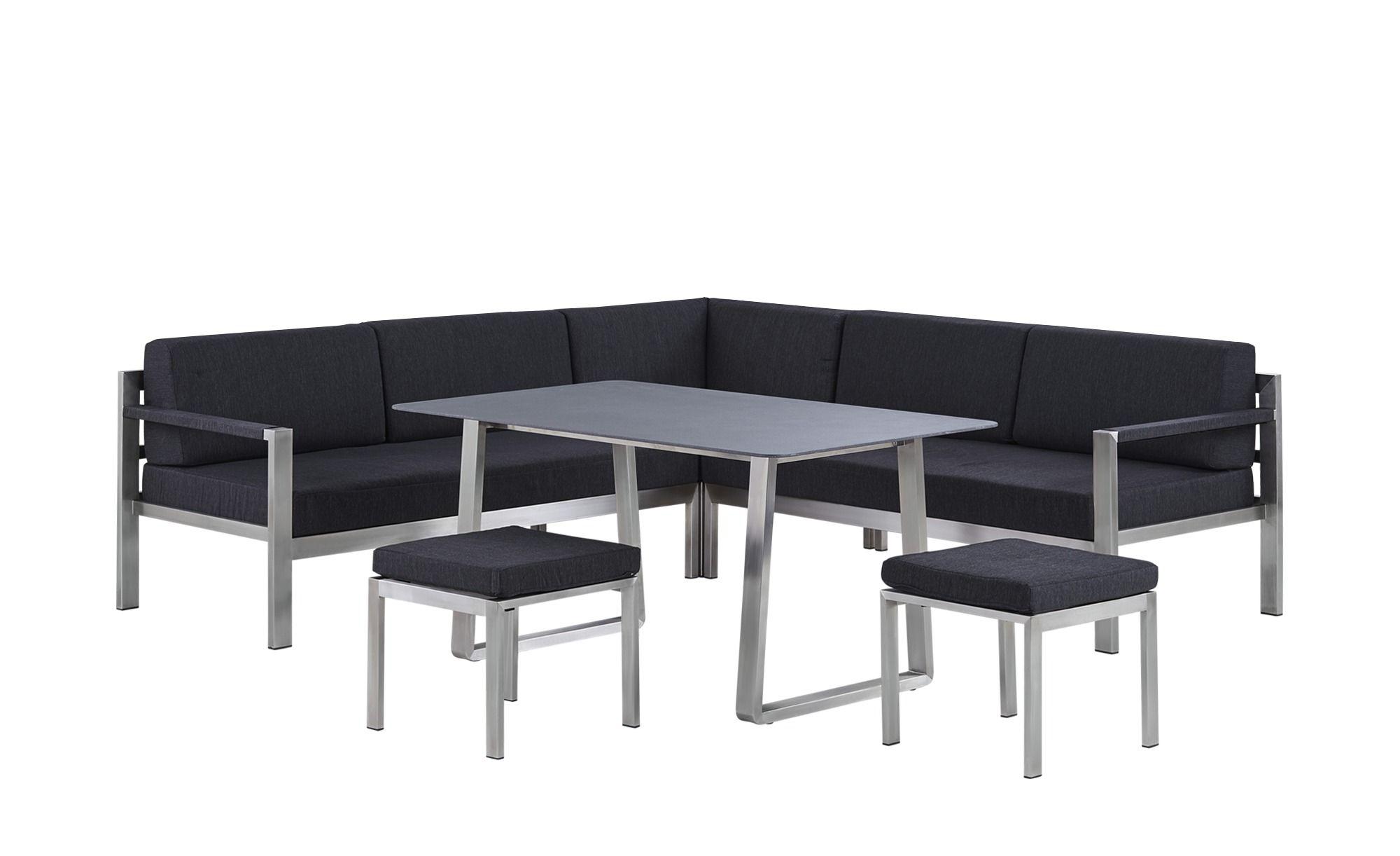 Lounge-Gruppe Wales - grau - Edelstahl - Höffner Jetzt bestellen ...