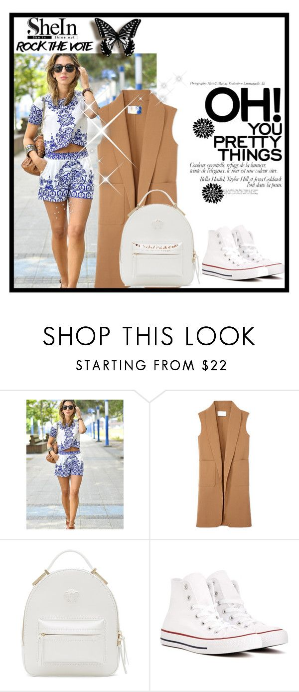 """""""Shein"""" by andela-susac ❤ liked on Polyvore featuring Alexander Wang, Versace and Converse"""