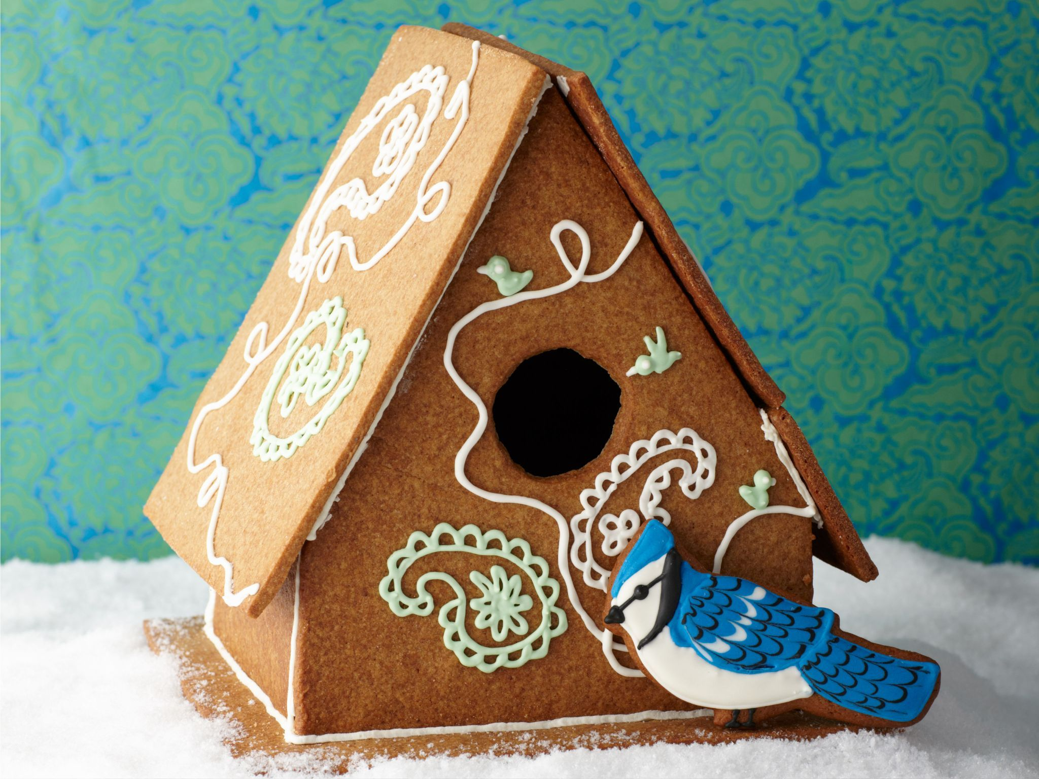 Gingerbread Birdhouse recipe from Food Network Kitchen via Food Network