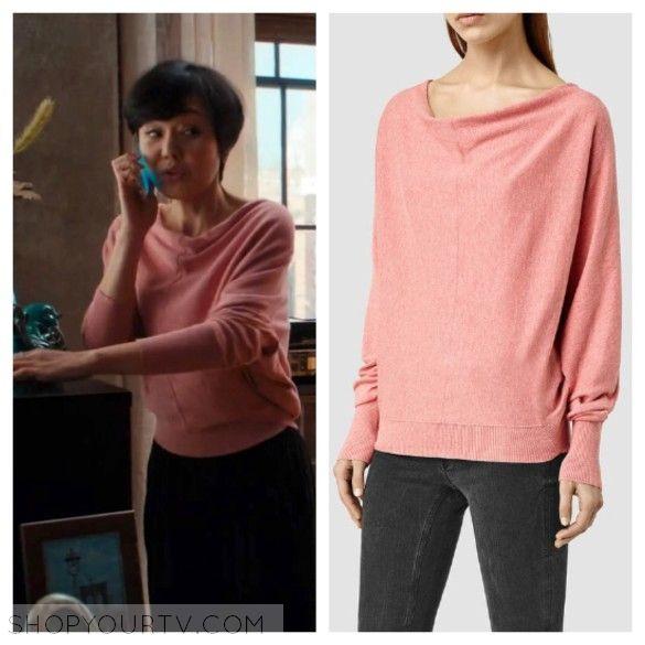 Mistresses: Season 4 Episode 1 Karen's Pink Cowl Neck Sweater | TV ...