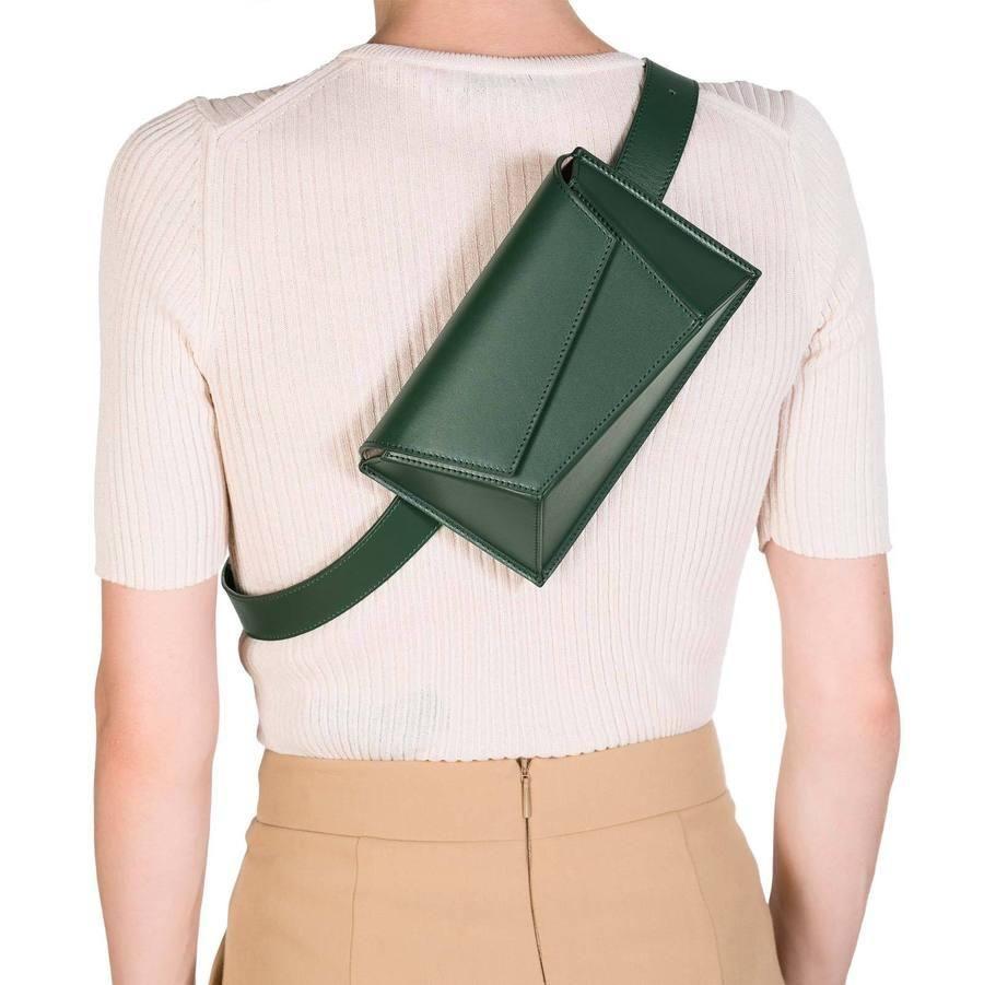 Photo of Green Geometry Belt Bags Fanny Pack Waist Bags
