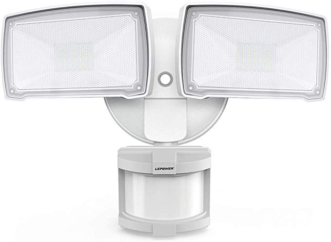 Lepower 28w Led Security Lights Motion Sensor Light Outdoor 3000lm Flood Light Dusk To Dawn Motion Sensor Lights Outdoor Motion Sensor Lights Security Lights