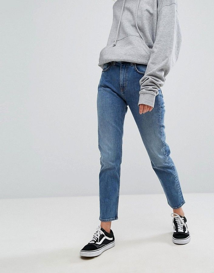cff04d8d2c Weekday Seattle High Waist Mom Jeans | Jeans in 2019 | Mom jeans ...