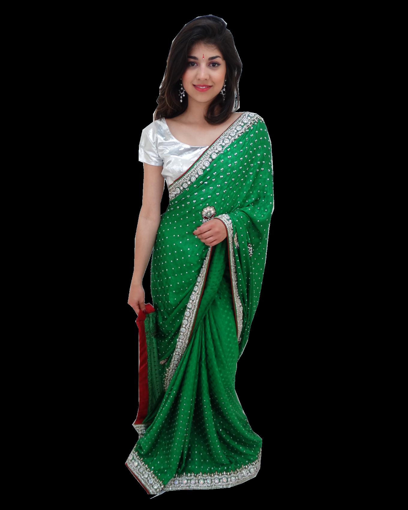 en stock sari mariage rouge et vert tenue de f te. Black Bedroom Furniture Sets. Home Design Ideas