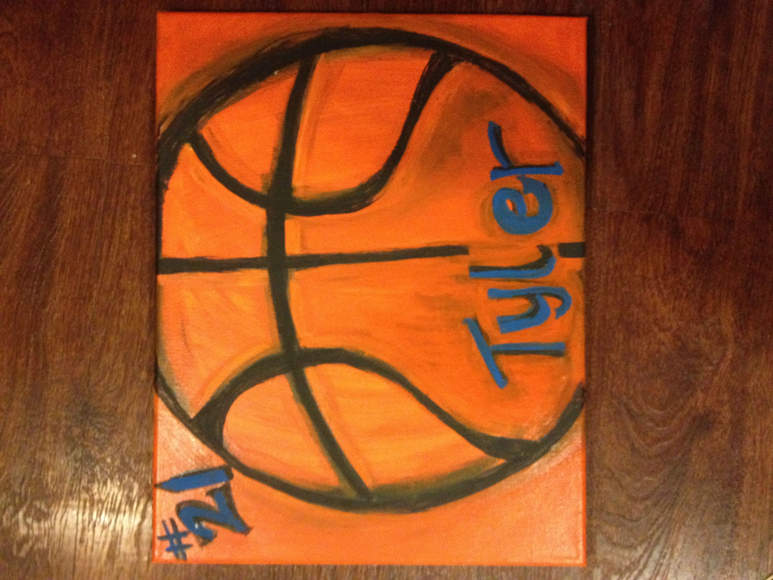basketball canvas paint me a dream pinterest