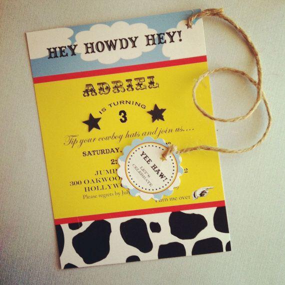 printable cowboy woody birthday invitation  toy story inspired, Baby shower