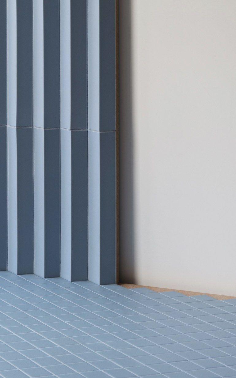 Porcelain stoneware 3D Wall Cladding ROMBINI TRIANGLE BLU - MUTINA ...