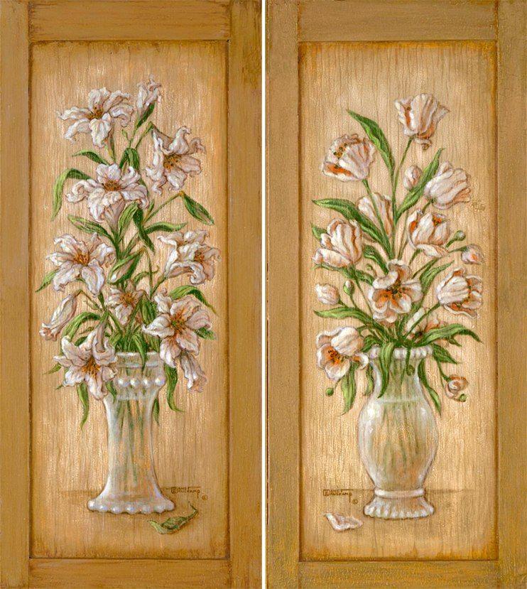 Декупаж. Картинки и мастер-классы. | Цветы, Натюрморт