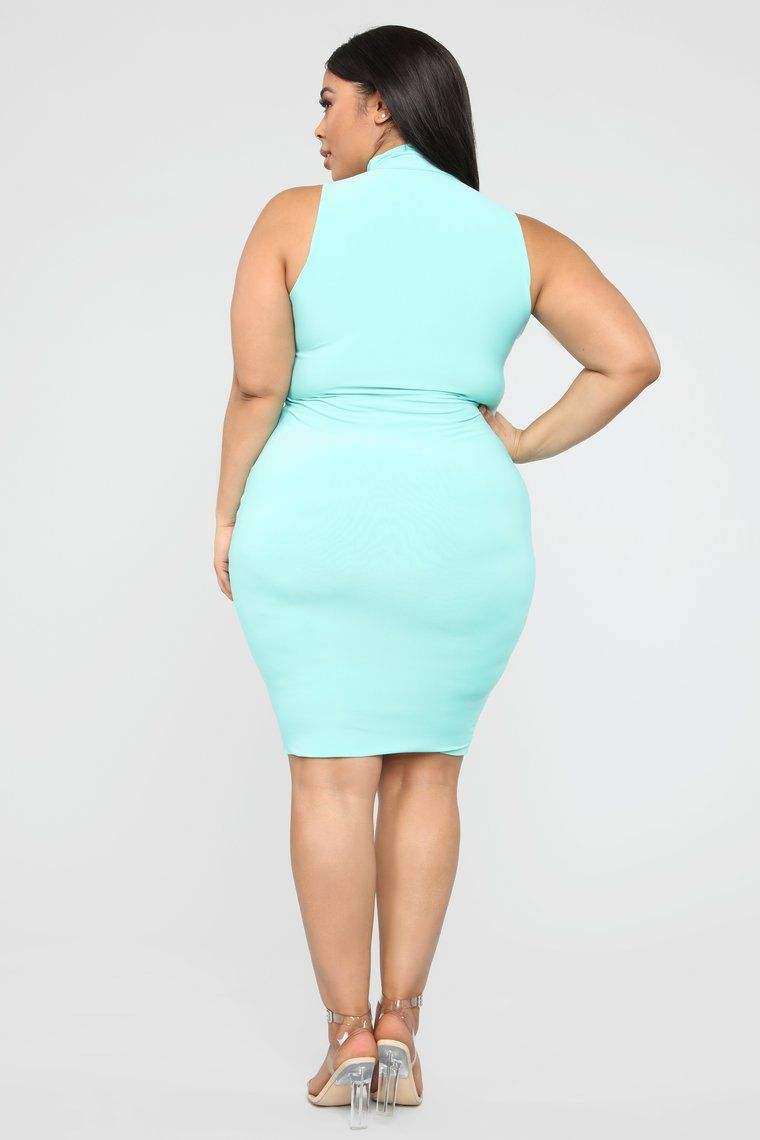 a240d20277 Hug Your FN Body Midi Dress - Mint in 2019 | Curvy | Dresses, Hug ...