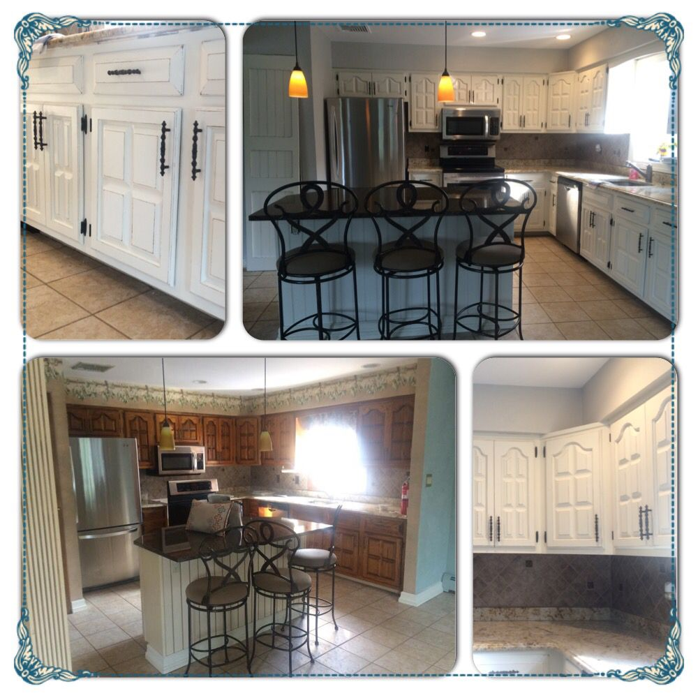 Refinished Kitchen Done In Navajo White Chalk Paint. Refinished By Deja Vu  Furniture Design LIKE