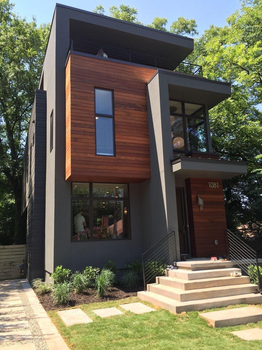 Elegant And Cozy Home Desain Ideas 28 Tiny House Exterior Facade House Contemporary House Design