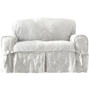 Sure Fit Matelasse Damask 1 Pc Sofa Slipcover Slipcovered Sofa Loveseat Slipcovers Slipcovers For Chairs